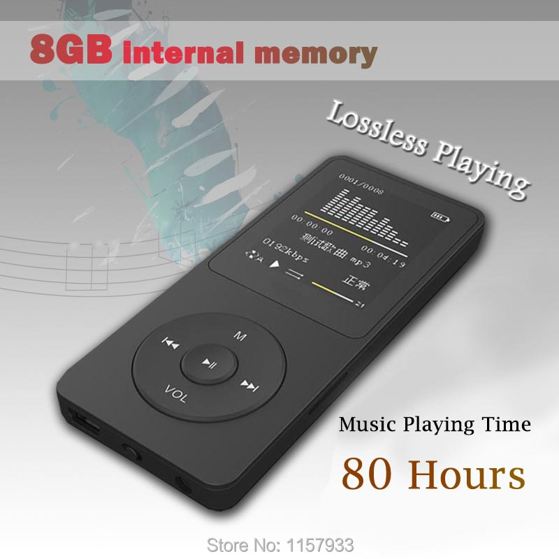 """New real 8GB 80 Hours Music playing lossless MP4 player 1.8"""" TFT screen MP4 with E-book video photo Music FM radio Clock Data(China (Mainland))"""