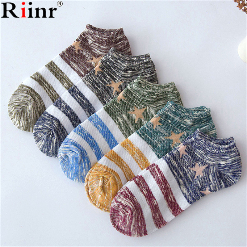 Riinr Brand Hot Sale !Socks Men 10 Pairs Combinations Comfortable Stripe 65% Cotton Comp ...