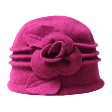 Aged fedora mom middle dome wool hats hat warm autumn ladies