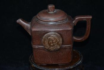 Old  ZiSha Pottery Tea Pot,phoenix, with Mark,Mao Ze-dong,03,best collection&  adornment, Free  shipping,