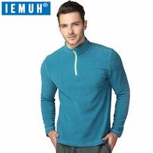 Здесь можно купить  IEMUH Brand Sport Jacket Men Outdoors Fleece Jacket Thicken Polartec Hiking Jacket Thermal Half-Zip Stand Collar Pullover Jacket