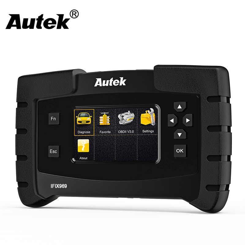 Autek IFIX969 Car Universal Diagnostic Tool Engine Transmission+Airbag ABS  TPMS SRS EPB Oil Reset Key Coding ECU Programmer