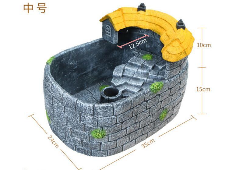Réservoir de poisson créatif bols de poisson Aquarium poisson tortue réservoir de mélange avec système de drainage + filtrateur - 3