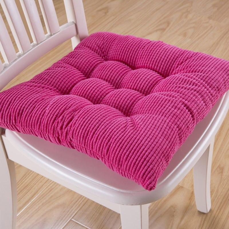 8 Colors 40*40cm Chair Cushion Back Cushion Home Decoration Throw Pillow Comfortable Sofa Hotel Car Seat Pad Buttocks Cushions