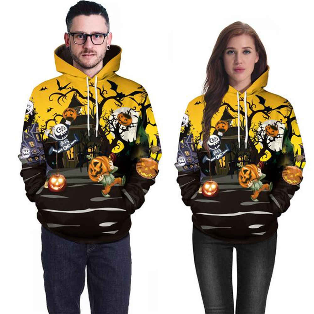 Sweatshirt Halloween-Hoodie Pumpkin Couple Hip-Hop Street Funny Universal Men Women NEW title=