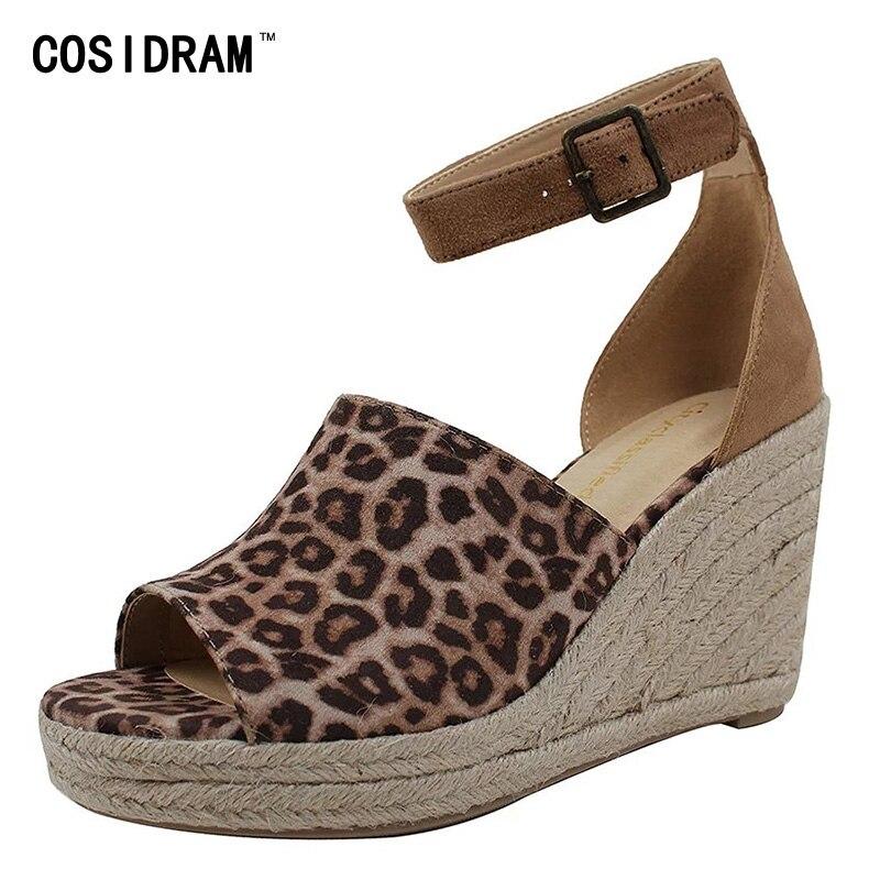 COSIDRAM Women Sandals Wedge-Heels Beach-Shoes Summer Platform Comfortable Plus-Size