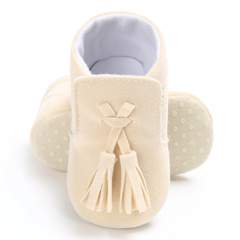 First Walkers Infant Baby Girls Boys Tassel Suede PU Toddler Soft Sole Shoes 0-18M rz