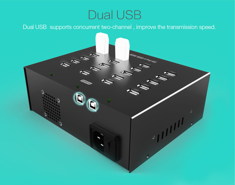 Industry USB 2.0 HUB for Recorders for Law Enforcement