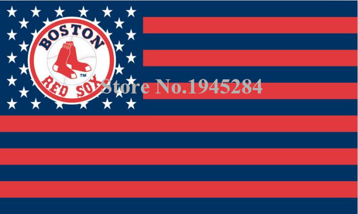 MLB Boston Red Sox with US Stars Stripes Flag Banner New 3x5FT 90x150CM Polyester 9438, free shipping