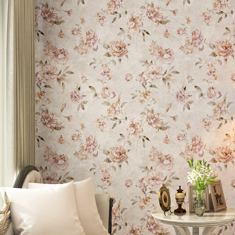 beibehang Retro American Country Pastoral Flowers wallpaper for walls 3 d Bedroom Living Room wall papers home decor panel wall