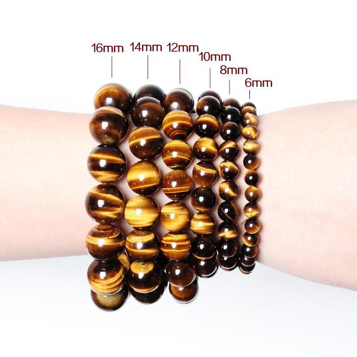 Natürlichen Kristall 6-16mm Tigerauge Edelstein Perlen Tibetischen Buddha Gebet Mala Armband Für Männer Buddhistischen Schmuck