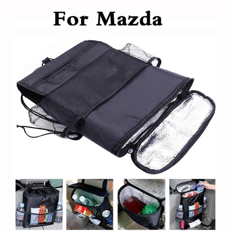 new Car Seat Organizer Cooler Multi Pocket Bag For Mazda Demio Laputa MX-5 Proceed Levante Roadster RX-8 Spiano Tribute Verisa
