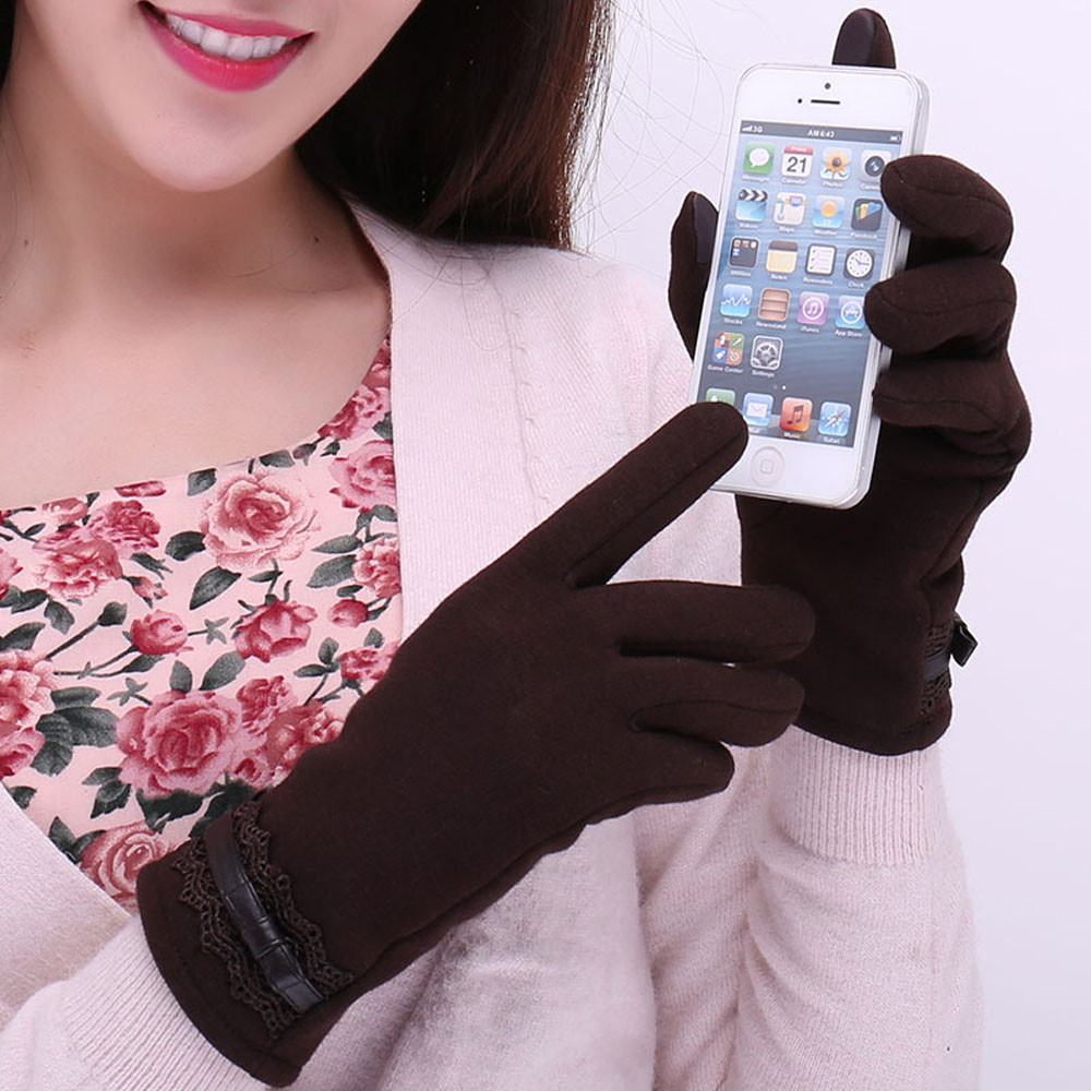 FEITONG Fashionable and Warm Women Touch Screen Gloves with a Special Conductive Fiber Allowing to Full Navigation Control of Touch Screen Device 3