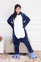 Унисекс животного Акула Пижама для взрослых Onesie Косплэй костюм пижамы для партии комбинезон