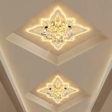 Красочные бабочки современные для коридора Кристалл светодиодный потолочное освещение коридора Зеркало Потолочный светильник прохода веранда освещение