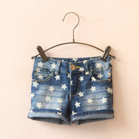 New Arrive Summer Style Baby Girls Jeans Shorts Kids Denim Shorts Stars Jeans Shorts For Boy