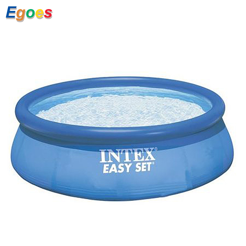 Piscina inflable 8FTx30IN Deep Easy Set sobre la piscina de tierra 28110