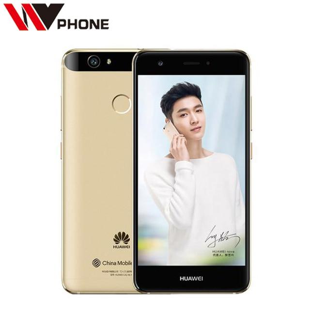 "Original Huawei Nova 4G LTE Mobile Phone 3G Ram 32GB Rom MSM8953 Octa Core 5.0"" FHD 1920X1080P 12.0MP Camera Fingerprint ID"