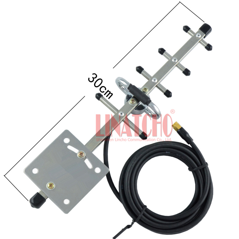 2.4ghz directional wifi outdoor stainless steel 5 elements yagi antenna 3 meter RG58 cable RP SMA male connector ...