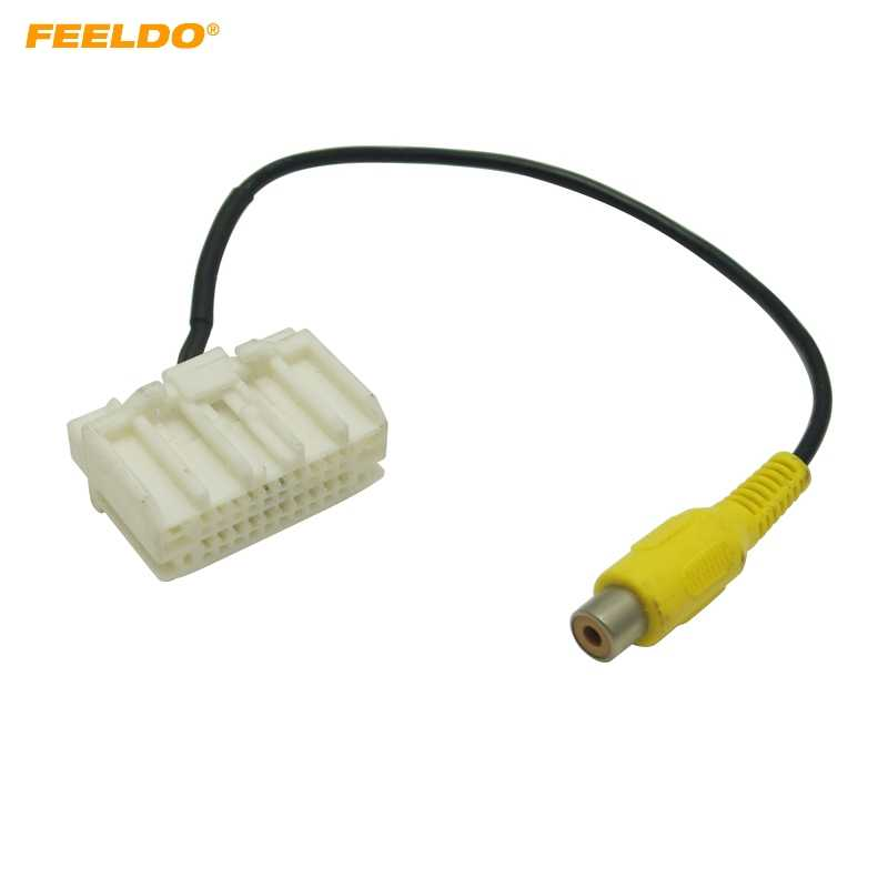 FEELDO 1PC Car Parking Rear Camera Factory Display RCA Plug Reversing Video Cable For Jeep Wrangler 2007-2017 #HQ5667