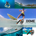 """TELESIN Dome Port 6"""" Dome Hood Cover Case+Dome Bag+Anti-fog Inserts for Xiaomi Yi 2 Xiaoyi 4K Lens Waterproof Case Accessories"""