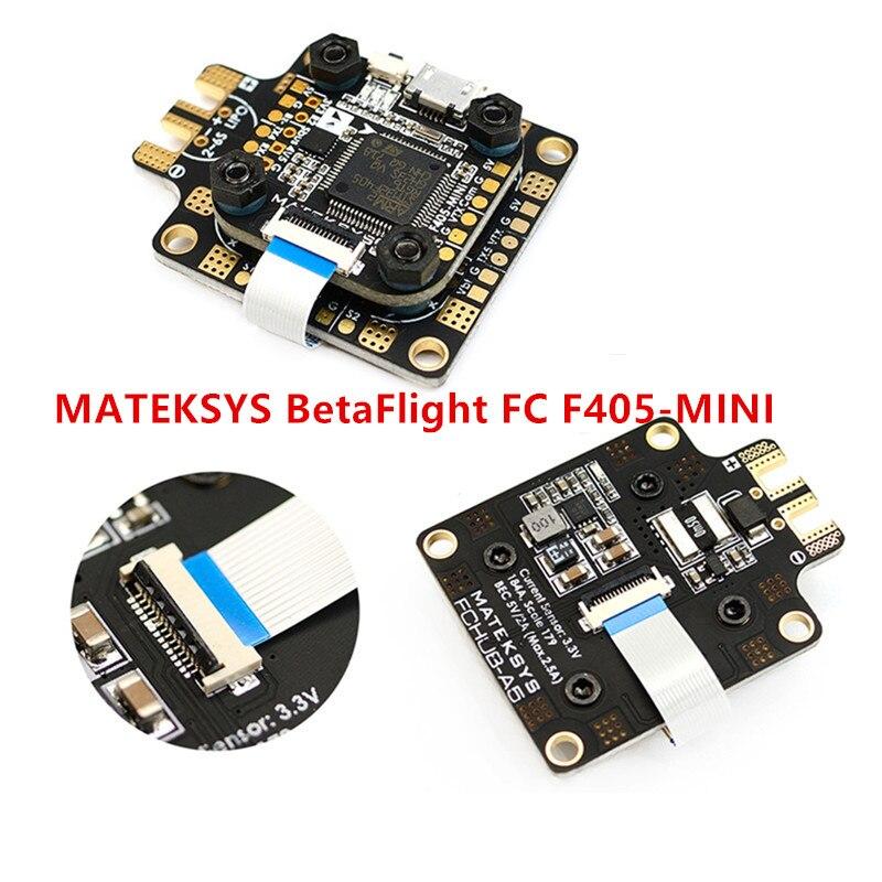 MATEKSYS BetaFlight FC F405-MINI BFOSD 32M Flash BlackBox STM32F405RGT6 6 PWM/DSHOT Outputs MATEKF405 Target