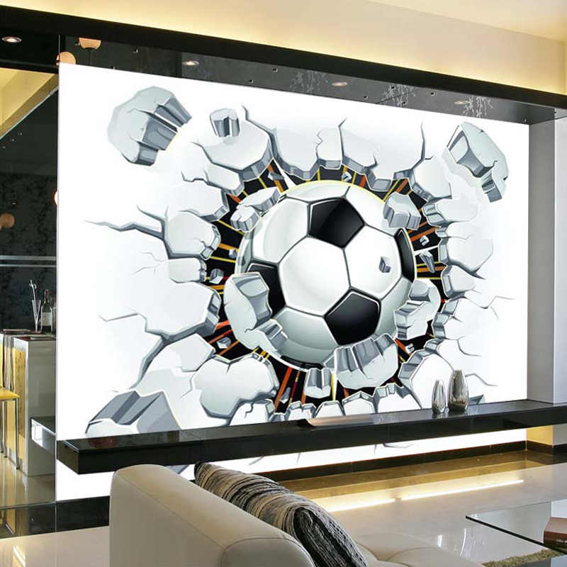 3D כדורגל טפט ספורט רקע קיר סלון חדר שינה ספת כדורגל טלוויזיה רקע מותאם אישית כל גודל קיר קיר טפט