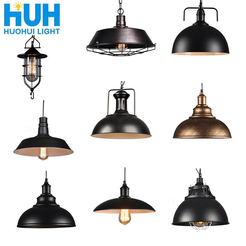 Vintage kolye işıkları endüstriyel çatı lambası E27 İskandinav restoran mutfak ışığı gece lambası lambası Loft bar oturma odası lamba
