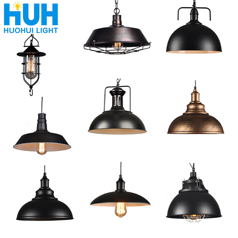 Vintage luces colgantes industrial lámpara de desván E27 nordico restaurante cocina luz de noche lámpara de desván bar sala de estar lámpara