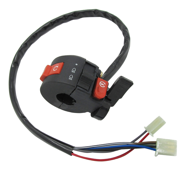 22mm Left Handlebar Kill Control Choke SwitchKill Light Starter Choke Switch Assembly for 50cc 70cc 90cc 110cc 125cc ATV Quad