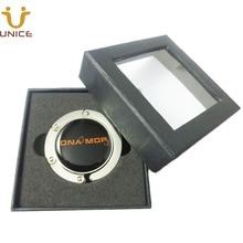 100pcs/lot Custom Your LOGO Table Purse Hanger Magnetic Bag Holder Customized Handbag Hook & Gift Box Business Promotion Gifts