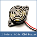 2 Colors Wired High-Decibel 95DB DC 3-24V Piezo Electronic Tone Big Sound Voice Buzzer Alarm Siren For Home Security System
