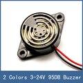 2 colores con cable de alto decibel $ number db dc 3-24 v piezo zumbador tono electrónico gran sonido de voz sirena para sistema de seguridad