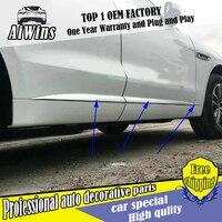 Aiwins TÜR KÖRPER TRIM FIT FÜR Jaguar F Tempo 2016 2017 SEITE TÜR KÖRPER GARNIEREN MOULDING ABDECKUNG trim SCHUTZ AUTO STYLING-in Chrom-Styling aus Kraftfahrzeuge und Motorräder bei