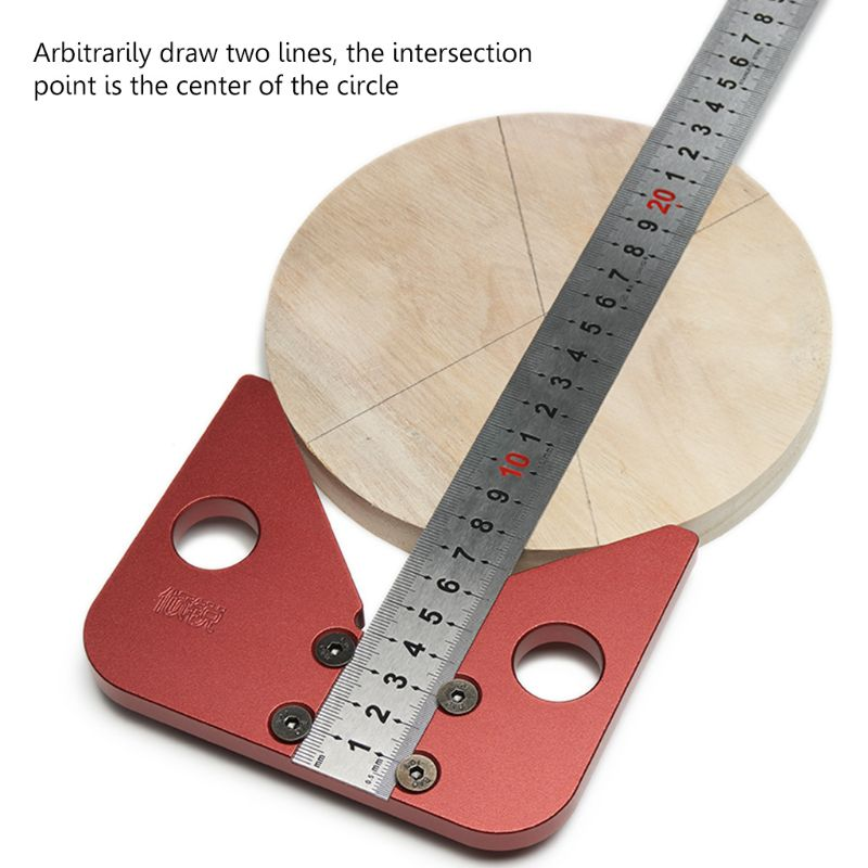 45 degree angle scribe round center line scribe wood ruled carpenter round heart ruler layout gauge woodworking tools|Gauges| |  - title=