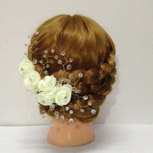 Wedding Hair Accessories for Brides Pins Birdal Hair Combs Clips with Pearl Flower Women Hair Jewelry accessoire cheveux mar