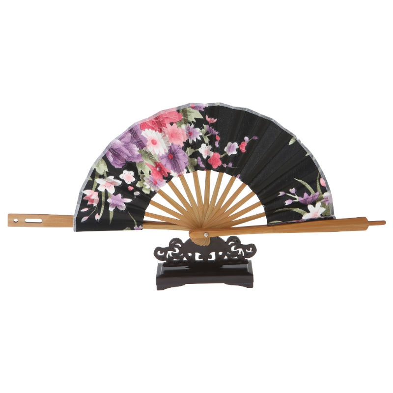 Vintage Art Style Folding Fan Stand Display Base Holder Home Office Table Decor Drop Ship Support