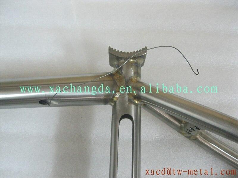 Súper ligero de titanio Ti bmx cuadro de la bicicleta marco de la ...