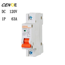 high end DC circuit breaker for motor car power batter 1P DC 120V 63A mini breaker with short and circuit overload protection(China)