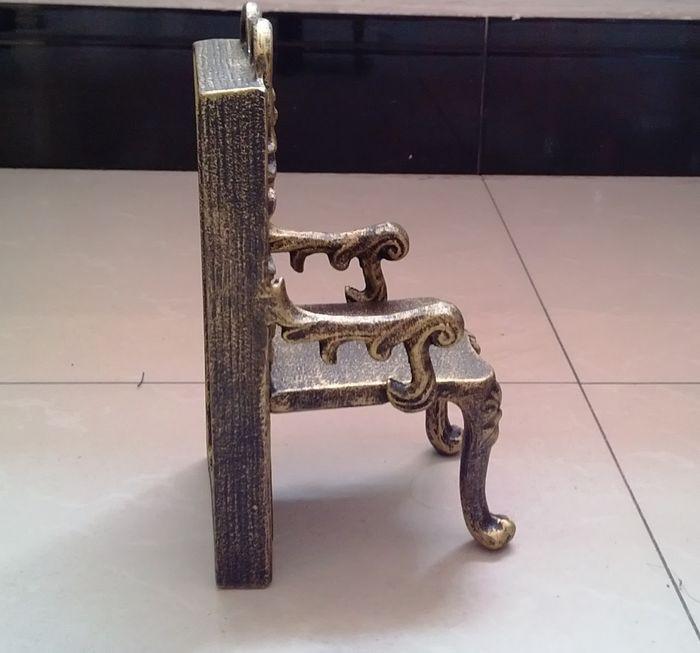 2 Cadeiras de Ferro Fundido Antigo Forma Suporte de Suporte de Livro - Decoração de casa - Foto 5