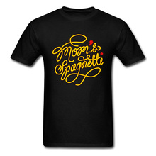 Moms Spaghetti T-Shirt For Men Tshirt Mother Day Gift T Shirts Chef Black Tops Letter Art Design Tees Cotton Clothes Crew Neck