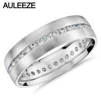 Solid 14k White Gold Eternity Wedding Band Channel Set Moissanites Lab Grown Diamond Engagement Ring 585 White Gold Mens Ring