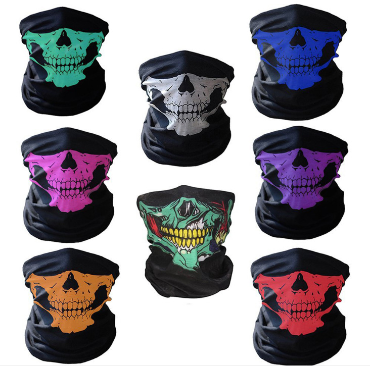 Motorcykel SKULL Ghost Face Windproof Mask Beanie Hatt Utomhus Sport Varm Skid Mask Caps Bicyle Bike Balaclavas Bonnet Halloween
