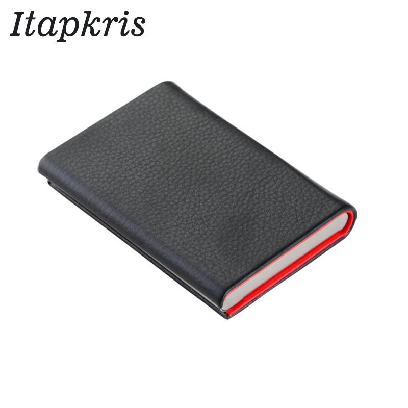 Itapkris Aluminum Men Credit Card Holder Travel Business Card Case Metal RFID Wallet For Women Fashion Porte Carte Cardholder