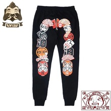 2019 Evisu Authentic New High Quality Warm Breathable Mens Trend Sports Pants Embroidery Tumbler Casual F083
