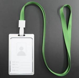 1 шт. зеленый цвет Вертикальный стиль металлический держатель для удостоверения личности из сплава с Съемный шнурок на шею аксессуары для о...