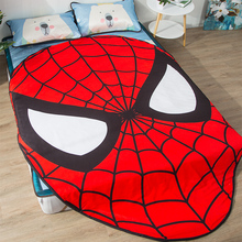 1pcs Spider-Man Summer Cool blanket air conditioning comforter children Adult Anime Marvel in summer