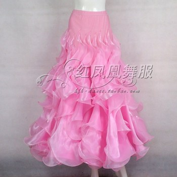 New style Ballroom dance costumes sexy spandex waves embroidery ballroom dance skirt for women ballroom dance skirts S-4XL