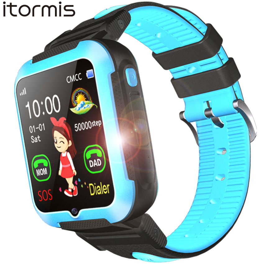 ITORMIS E7 Children Smart Watch AGPS LBS Location Waterproof Kids Baby SmartWatch Touch Screen Wristwatch for iOS Android