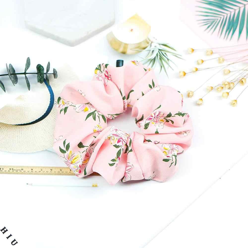 Xugar อุปกรณ์เสริมผมดอกไม้ยืดหยุ่น Scrunchie ฤดูร้อนหางม้าผมผูกเชือกสำหรับหญิงสาวนุ่มผ้าแหวนผมยาวผม